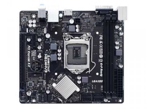 BIOSTAR H61MHV3 02 PCパーツ マザーボード   メインボード Intel用メインボード