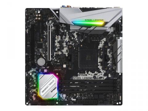 ASRock B450M Steel Legend 02 PCパーツ マザーボード | メインボード AMD用メインボード