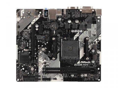 ASRock B450M-HDV R4.0 02 PCパーツ マザーボード   メインボード AMD用メインボード