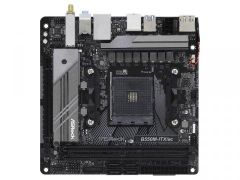ASRock B550M-ITX/ac 02 PCパーツ マザーボード | メインボード AMD用メインボード