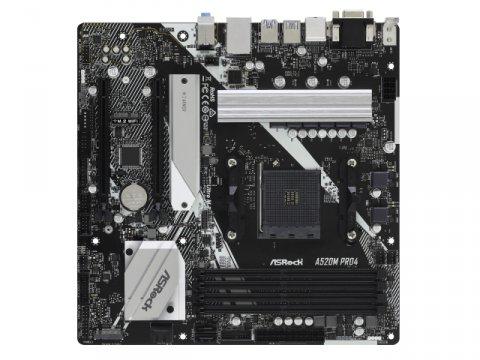 ASRock A520M Pro4 02 PCパーツ マザーボード | メインボード AMD用メインボード
