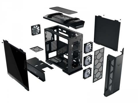 ASUS GT501 02 PCパーツ PCケース   電源ユニット PCケース