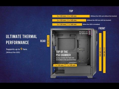 Antec DP502 FLUX 02 PCパーツ PCケース | 電源ユニット PCケース