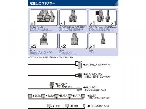 玄人志向 KRPW-L5-600W/80+ 02 PCパーツ PCケース | 電源ユニット 電源ユニット