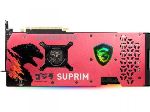 MSI RTX 3070 SUPRIM SE 8G LHR x GODZILLA 02 PCパーツ グラフィック・ビデオカード PCI-EXPRESS