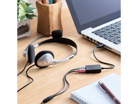 USB-AADC02BK 02 周辺機器 PCサウンド | オーディオ関連 ヘッドセット
