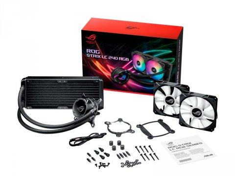 ASUS ROG STRIX LC 240 RGB 03 PCパーツ クーラー   FAN   冷却関連 CPUクーラー