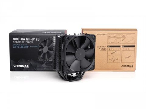 S/ Noctua NH-U12S chromax.black 03 PCパーツ クーラー   FAN   冷却関連 CPUクーラー