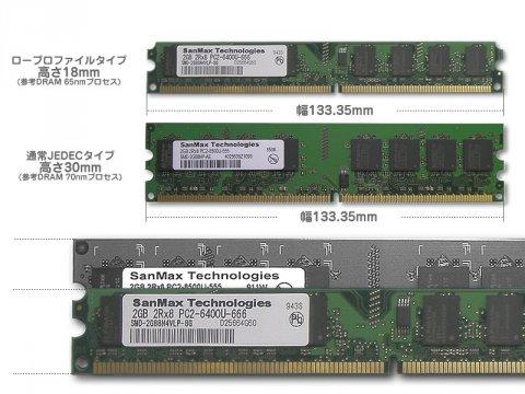 SMD-4G88NVLP-8E-D DDR2-800 2GB*2 CL5 ELP 03 PCパーツ SanMaxPC用メモリー デスクトップ用