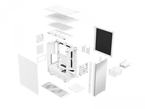 FD-C-DEF7C-05 Define 7 Compact WH Solid 03 PCパーツ PCケース | 電源ユニット PCケース