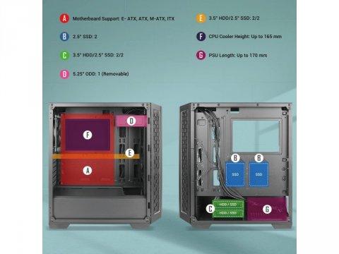 Antec P7 NEO 03 PCパーツ PCケース | 電源ユニット PCケース