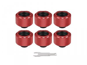 Pacific C-Pro G1/4 PETG 16mm OD 6 Pack - Red -