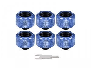 Pacific C-Pro G1/4 PETG 16mm OD 6 Pack - Blue -