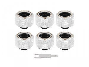 Pacific C-Pro G1/4 PETG 16mm OD 6 Pack - White -