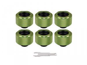 Pacific C-Pro G1/4 PETG 16mm OD 6 Pack - Green -