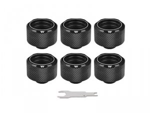 Pacific C-Pro G1/4 PETG 16mm OD 6 Pack - Black -
