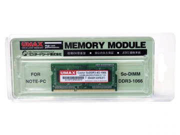 U-MAX S.O.DDR3-1066 4GB SoDDR3-4G-1066 01 PCパーツ PCメモリー ノート用