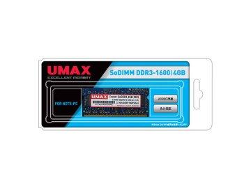 U-MAX S.O.DDR3-1600 4GB SoDDR3-4GB-1600 01 PCパーツ PCメモリー ノート用