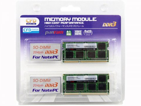 DDR3 S.O.DDR3-1600 8GBx2 W3N1600PS-L8G 01 PCパーツ PCメモリー ノート用
