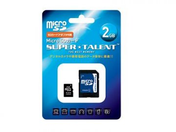 SuperTalent Micro SD 2GB ST02MSDA 01 モバイル フラッシュメモリー MicroSD