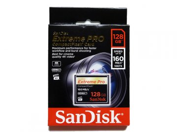 SANDISK CF Ex Pro 128GB SDCFXPS-128G-X46 01 モバイル フラッシュメモリー コンパクトフラッシュ
