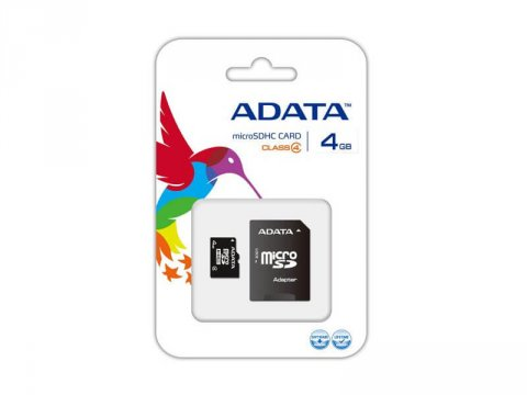 A-DATA Micro SDHC 4GB AUSDH4GCL4-RA1
