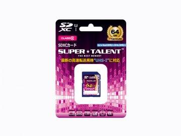 SuperTalent SDXC Card 64GB ST64SU1P 01 モバイル フラッシュメモリー SDXCカード