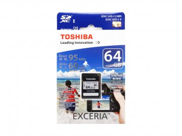 Toshiba SDXC Card 64GB SD-H064GR7VW060A 01 モバイル フラッシュメモリー SDXCカード