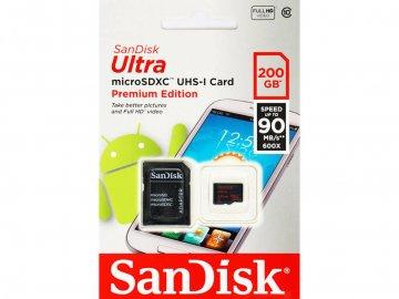 SANDISK MicroSDXC SDSDQUAN-200G-G4A 01 モバイル フラッシュメモリー MicroSDXC