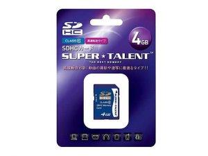 SuperTalent SDHC Card 4GB ST04SDC10