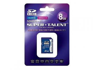 SuperTalent SDHC Card 8GB ST08SDC10 01 モバイル フラッシュメモリー SDカード|SDHCカード