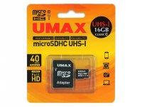 U-MAX Micro SDHC UM-MCSDHC UHS-I C10-16G