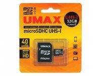 U-MAX Micro SDHC UM-MCSDHC UHS-I C10-32G