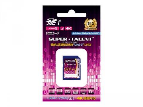SuperTalent SDXC Card 512GB ST12SU1P