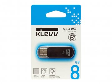 KLEVV USB Memory 8GB U008GUR2-NB 01 モバイル フラッシュメモリー USBメモリー
