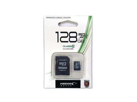 HIDISC MicroSD HDMCSDX128GCL10UIJP3