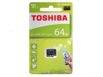Toshiba MicroSDHC 64GB THN-M203K0640A4 01 モバイル フラッシュメモリー MicroSDXC