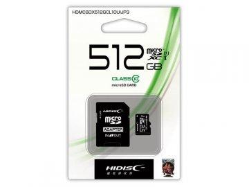 HIDISC MicroSD 512G HDMCSDX512GCL10UIJP3 01 モバイル フラッシュメモリー MicroSDXC
