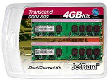 JetRAM DDR2 PC2-6400(800) 2GBx2 DualKit 01 PCパーツ PCメモリー デスクトップ用