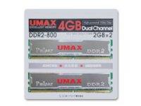 U-MAX PC2-6400(800) 2GBx2 DCDDR2-4GB-800