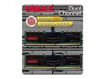 UMAX UM-DDR4D-2666-32GBHS DDR4-2666 16x2 01 PCパーツ PCメモリー デスクトップ用