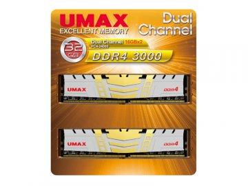 UMAX UM-DDR4D-3000-32GBHS DDR4-3000 16x2 01 PCパーツ PCメモリー デスクトップ用