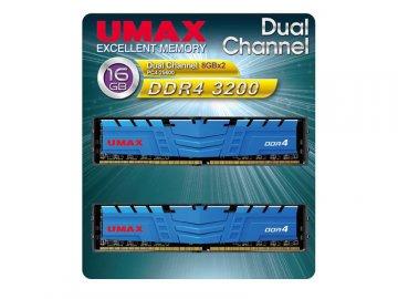 UMAX UM-DDR4D-3200-16GBHS DDR4-3200 8Gx2 01 PCパーツ PCメモリー デスクトップ用