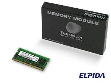 SMD-N1G88NP-6E DDR2SODIMM-667 1GB CL5 EL 01 PCパーツ SanMaxPC用メモリー ノート用