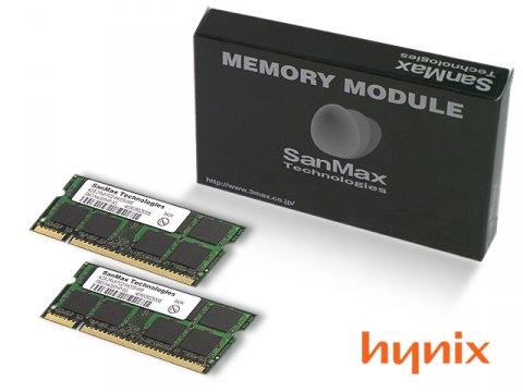 SMD-N4G88HP-8E-D DDR2SODIMM-800 2GB*2SET 01 PCパーツ SanMaxPC用メモリー ノート用