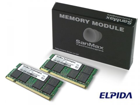 SMD-N4G88NP-8E-D DDR2SODIMM-800 2GB*2SET 01 PCパーツ SanMaxPC用メモリー ノート用