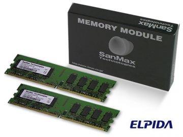 SMD-4G88NP-6E-D DDR2-667 2GB*2SET ELPIDA 01 PCパーツ SanMaxPC用メモリー デスクトップ用