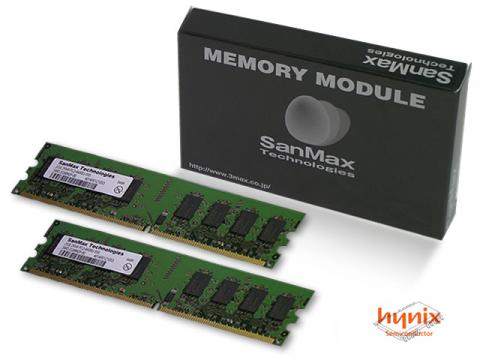 SMD-4G88HP-6E-D DDR2-667 2GB*2KIT hynix 01 PCパーツ SanMaxPC用メモリー デスクトップ用