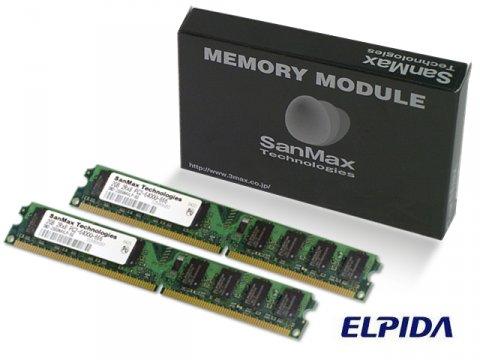 SMD-4G88NVLP-8E-D DDR2-800 2GB*2 CL5 ELP 01 PCパーツ SanMaxPC用メモリー デスクトップ用