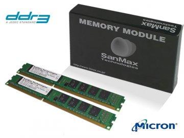 SMD-8G28CVLP-16KL-D 4GB*2SET 1.35v MT LP 01 PCパーツ SanMaxPC用メモリー デスクトップ用